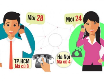 Adjust the area code in Vietnam 2017